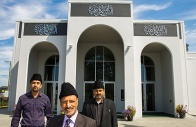 DELTA, BC: JULY 30, 2013 -- Ahmadiyya Muslim Imam, Balal Khokhar Regional President Mohmmad Aslam Shad, President Rizwan Peerzada and , left to right at the Baitur Rahman Mosque in Delta Tuesday July 30, 2013. (Ric Ernst / PNG) (Story by Kent Spencer) TRAX #: 00022753A